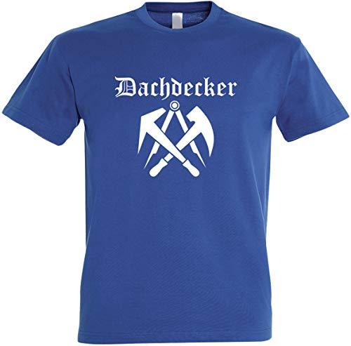 "Herren T-Shirt Dachdecker Zunftwappen 2\"" S bis 5XL (L, Royalblau)"