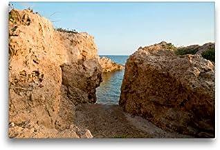 Premium Textil lienzo 45 cm x 30 cm horizontal, acceso a Felsenbucht, suroeste de Chipre, cuadro sobre bastidor, imagen sobre lienzo auténtico, impresión en lienzo (CALVENDO Orte);CALVENDO Orte