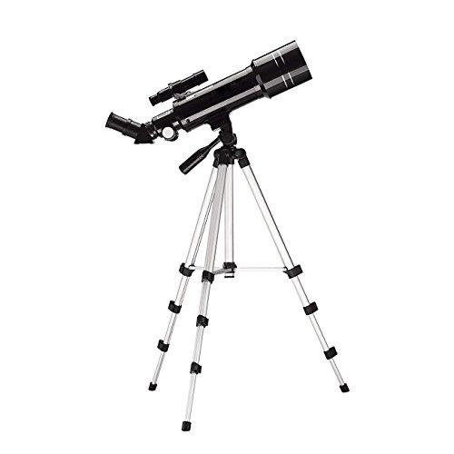 XHHWZB Telescopio astronómico del Refractor terrestre de 400x70m m para los Principiantes, Recorrido Alcance con el trípode Ajustable