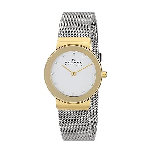 Skagen Reloj de pulsera Analógico para Mujer de Cuarzo con Correa en Acero inoxidable 358SGSCD