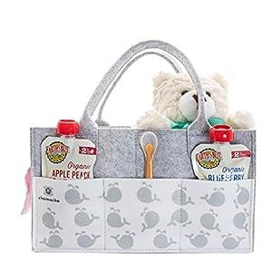 Designer Baby Diaper Caddy Organizer – Portable Diaper Bag Organizer | Nursery Bag for Changing Table | Car Organizer (Happy Whale)