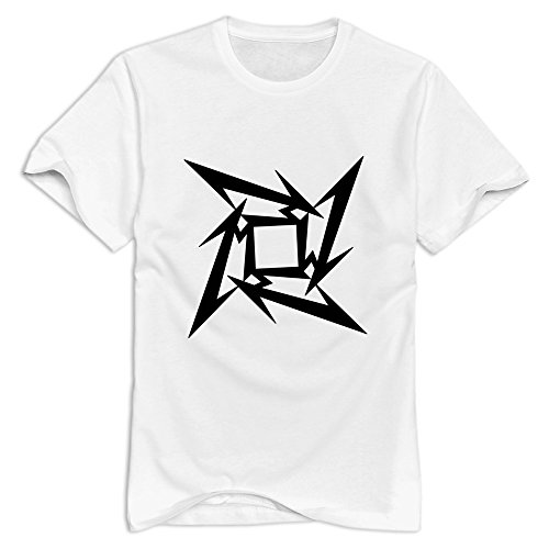hoxsinメンズロゴMetallicaバンドビンテージTシャツ