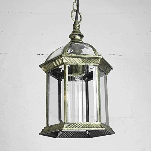 pendentif d'extérieur lampe or antique E27 résistant aux intempéries rustique suspension lampe en verre terrasse terrasse cour intérieure