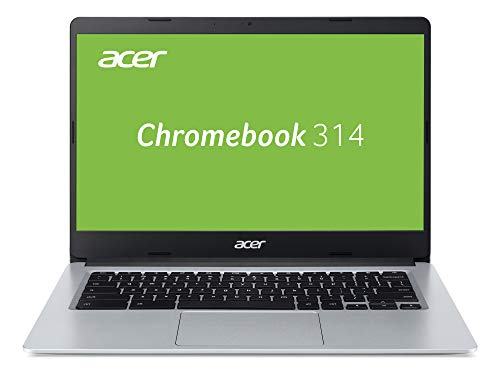 Acer Chromebook 314 Notebook (14 Zoll HD matt, 19,7mm flach und ultra leicht, extrem lange Akkulaufzeit, schnelles WLAN, MicroSD Slot, Google Chrome OS) silber