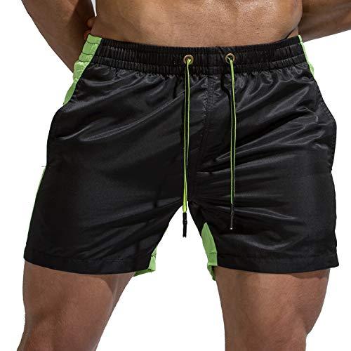Tofern - Pantaloncini da Uomo, Multi Tasche, da Spiaggia, ad Asciugatura Rapida, per Pesca, Barca a Vela, per Prendere Il Sole