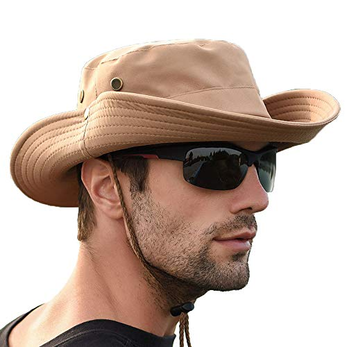 Boonie hat, Classic Army Style Boonie Bush Jungle Hat Safari Cap Outdoor Hunting Hat (0724 Khaki)