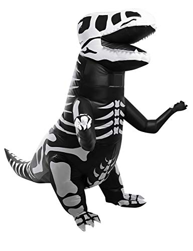 AOFITEE Child Skeleton Inflatable T-Rex Dinosaur Costume Halloween Fancy Dress