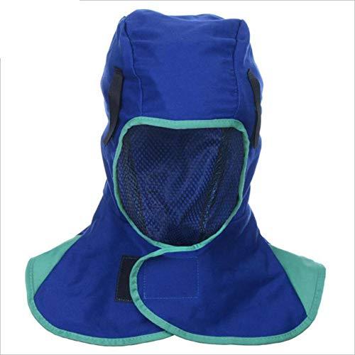 Liteness Casco de Soldadura con Capucha, máscara de Soldadura Ajustable, Transpirable, Lavable, protección de la Cabeza, Retardante de Llama, para soldadora