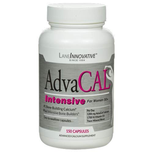 Lane Labs - AdvaCAL Intensive Calcium, for Women 50+, with 1,700 IU Vitamin D, Easy to Swallow (150 Capsules)