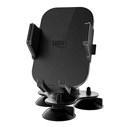 LUCKYLAKER Strong Suction Phone Mount Base Universal Marine Electronic Mount Ball Kayak Fish Finder Holder GPS Car Fishing for Truck Boat Canoe