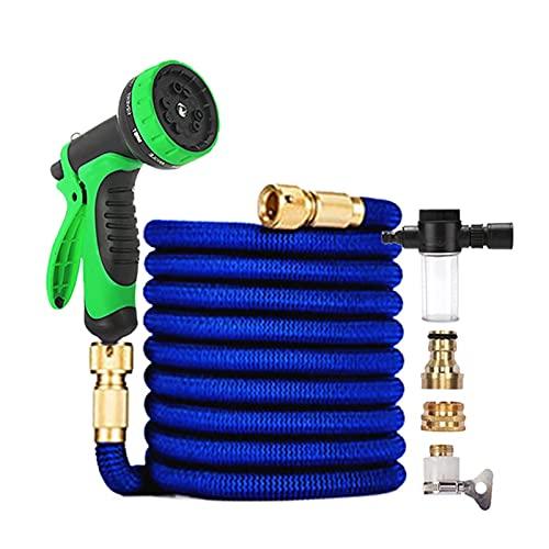 """Tuinslang Tuin Watergevende slang, telescopische flexibele carwash slang met schuimtank spray set geschenk (Color : Schwarz, Diameter : 1/2"""")"""