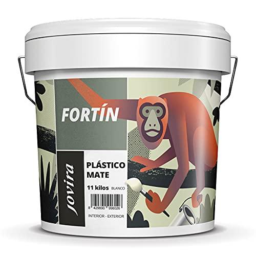 PINTURA MATE EXTERIOR/INTERIOR LAVABLE, Super cubriente, blanco lustroso (11 kg)