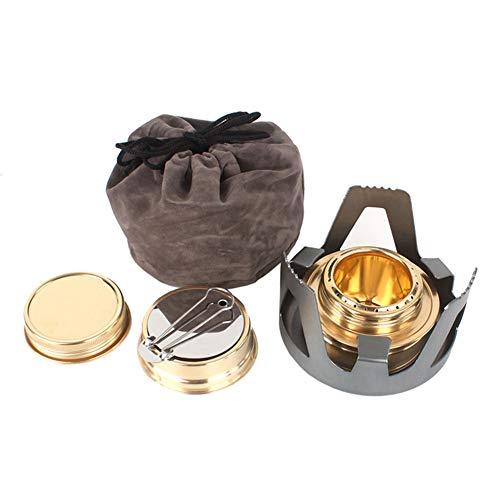 Zeer efficiënte mini-alcoholbrander met alcoholbrander, aluminiumlegering, goede ventilatie, goede verbrandingsefficiëntie, stabiel, voor koken op de camping.