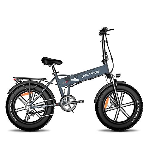 Bicicleta eléctrica para adultos de 20 pulgadas, Fat Tire Mountain con 500...