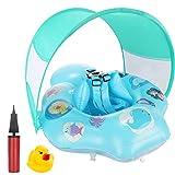 joylink Flotador Bebé, Anillo de Natación Inflable con Cubierta Solar y Protección de Cintura, Anillo Flotador Ajustable para Bebés 18 +Meses Juguetes de Desarrollo de Natación