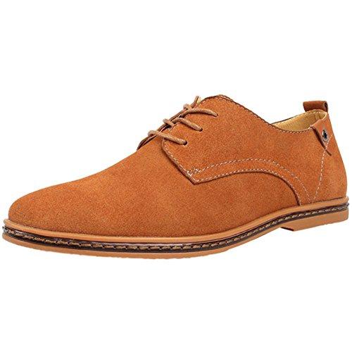 Wealsex Zapatos Hombre Oxford Cuero Derby Casual Ante Cordones Boda Verano Moda...