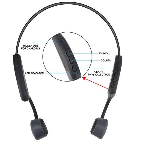 GlobalCrown Casque Conduction Osseuse Bluetooth,Ecouteurs Conduction osseuse sans Fil Oreillette...