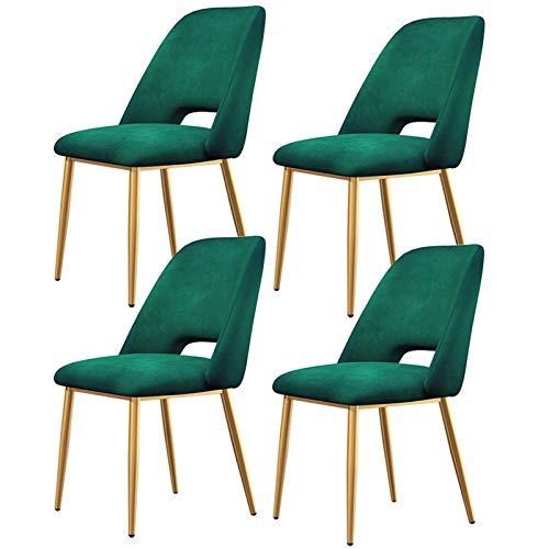 zyy 4 X Äta Matsalar Ljus Lyx Nordisk Matsal Stolar Ergonomisk Design Frukost Kökstolar För Kök Matsal Sovrum (Color : Green)