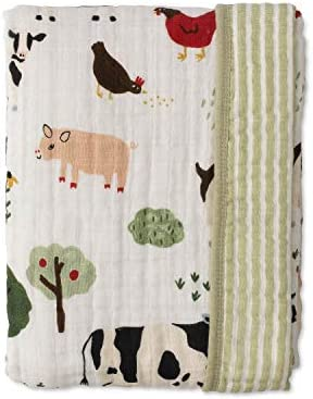 Red Rover Kids Breathable Cotton Muslin Baby Quilt Family Farm product image