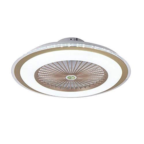 Ventilador de techo con luz LED, Ventilador de techo con luz, Ventilador de techo con control remoto(Golden, Tricolor)