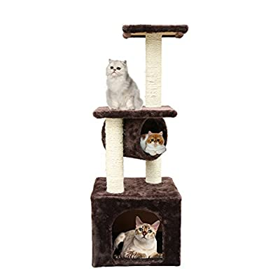 MAGIC UNION 37-Inch Cat Scratching Post Kitten Play House Bed
