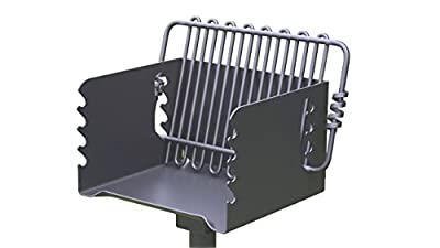 Pilot Rock Steel Park-Style Backyard Charcoal Grill - 16 1/4in.L x 14 1/8in.W, Model Number CPB-135