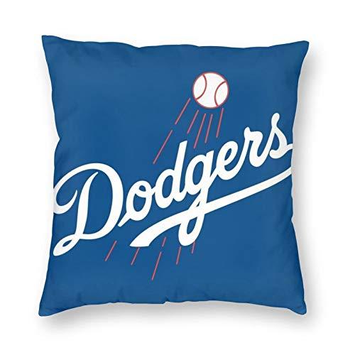 hfdff Dodgers - Fundas de Almohada Suaves y cómodas, decoración de Funda de cojín para sofá Cama, se Adapta a Almohadas de 18 x 18