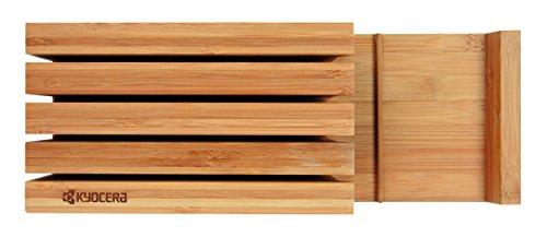 Kyocera KBLOCK3 Bamboo 3-Slot Knife Block