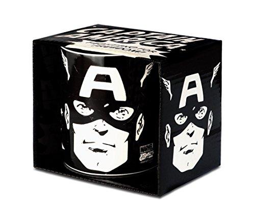 Logoshirt Marvel Comics - Captain America Portrait Porzellan Tasse - Kaffeebecher - schwarz - Lizenziertes Originaldesign