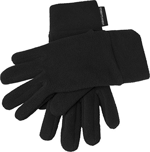 Urban Classics Polar Fleece Gloves Guantes, Negro (# 7), S-M