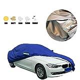 Rhelf Funda de tela Oxford para coche resistente al frío y a la nieve, impermeable, para coche, resistente al viento y al polvo, para todo tipo de clima, compatible con tela Oxford universal