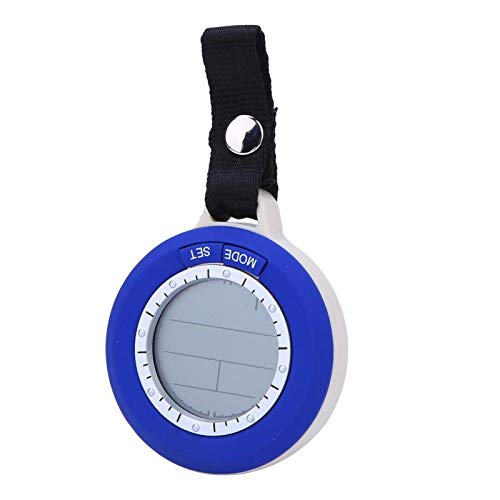 DAUERHAFT Termómetro de Pesca de tamaño pequeño, barómetro de Pesca Digital, portátil, fácil de Quitar, fácil de Instalar, Amante de la Pesca, Pesca(SR204 Blue)
