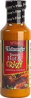 Johnny's Jamaica Me Sweet Hot & Crazy Dressing & Marinade, 12 fl oz, (Pack of 6)