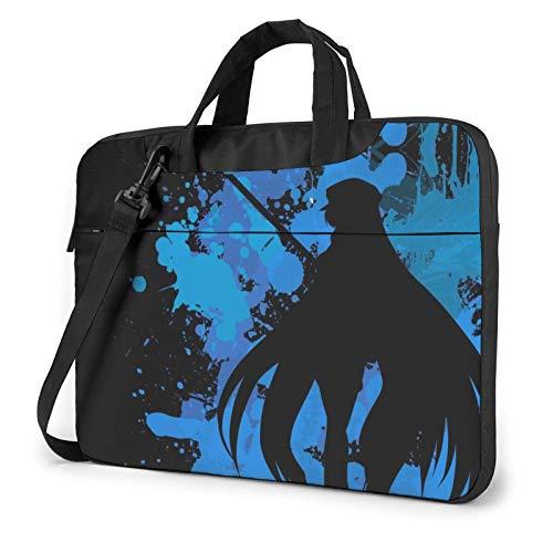 185 Bolsa para Laptop,Bolso para Ordenador Portátil De Anime Japonés Akame Ga Kill Esdeath, Maletines Elegantes Ordenador Portátil,38x28.5x2cm