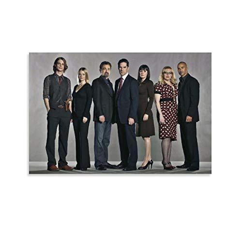 DRAGON VINES Criminal Minds Staffel 1 Aaron Hotchner HD-Druck, Poster, College, Studenten, Schlafsaal, 40 x 60 cm