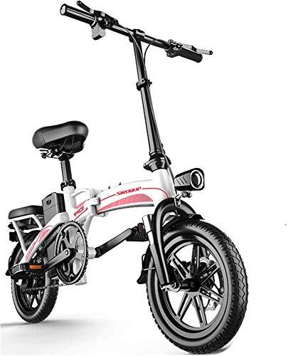 Alta velocidad Bicicletas eléctricas rápidas for adultos portátil fácil de guardar en caravana, autocaravana, 14' bicicleta eléctrica / conmuta ebike, 48V de iones de litio y silencioso motor de la E-