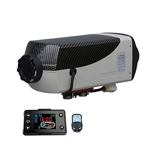 MMPY Calentador de calefactor de vehículos de 12V 24V, calentador de aire diesel de 5kw Calentador de aire Diesel Calentador de aire con interruptor de la perilla Camiones para silenciador Carriles Mo