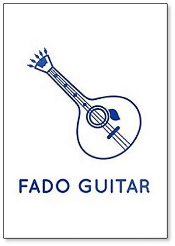 Imán para nevera con diseño de guitarra Fado