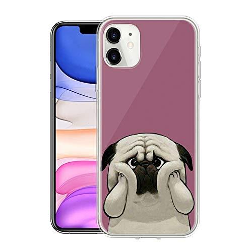 Pnakqil Etui kompatybilne z Samsung Galaxy M31, miękki silikon, przezroczyste TPU, ultracienkie, ze wzorem, etui ochronne, odporne na uderzenia i zarysowania, etui na telefon komórkowy Galaxy M31, pies 03