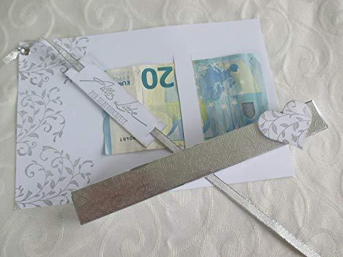 Reagenzglas als Geldgeschenk zur Silberhochzeit/Goldhochzeit/Hochzeit