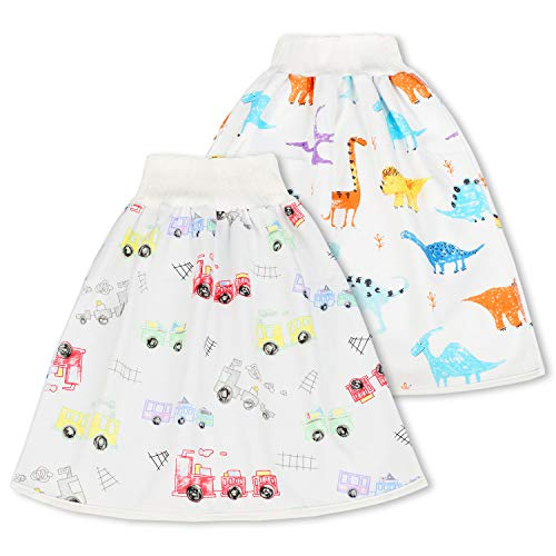 FLYISH DIRECT Baby Trainingshose High Waist Cotton Sleepy Windelhose Urinpolster Klimmzüge Lernhose Potty Underwear Windelunterwäsche 2 Stück, 4-8 Jahre, L(4-8T)