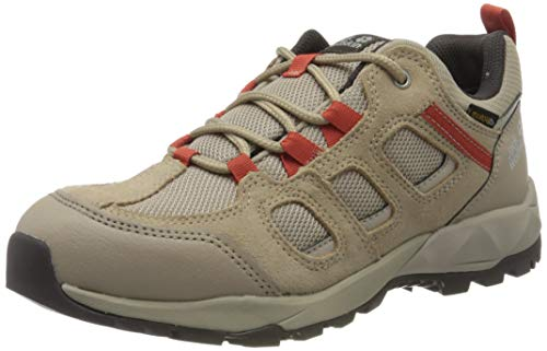 Jack Wolfskin Vojo Hike XT Texapore Low W, Chaussures de Randonnée Basses Femme, Beige (Clay/Orange 8888), 41 EU
