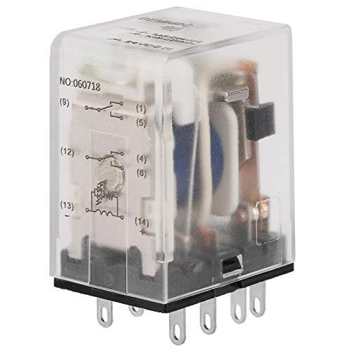 Mini relé de potencia intermedia, relé de estado sólido de 8 pin 5A relé electromagnético(24VDC)