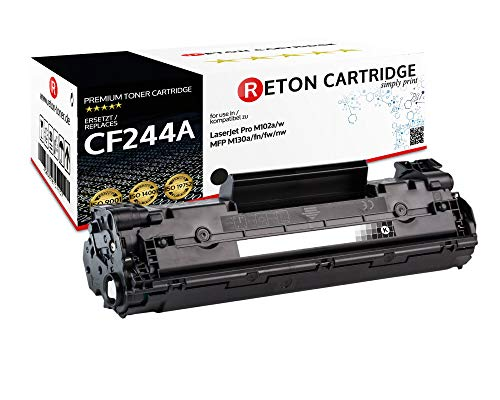 Originele Reton Toner | 1.500 pagina's volgens ISO-19752 | compatibel met HP CF244A, 44A voor HP Laserjet Pro M15a, Pro M15w, Pro M28a, Pro M28w