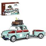 EWWEEQQ Technic Tourist Picnic Car Kit de construcción Remolque...
