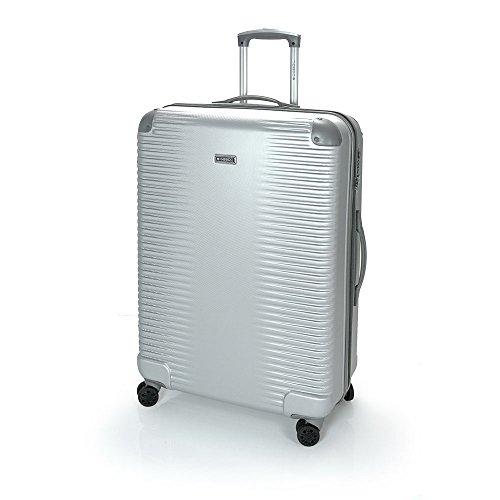 Gabol - Balance | Maletas de Viaje Grandes Rigidas de 52 x 76 x 28 cm con Capacidad para 85 L de Color Plata