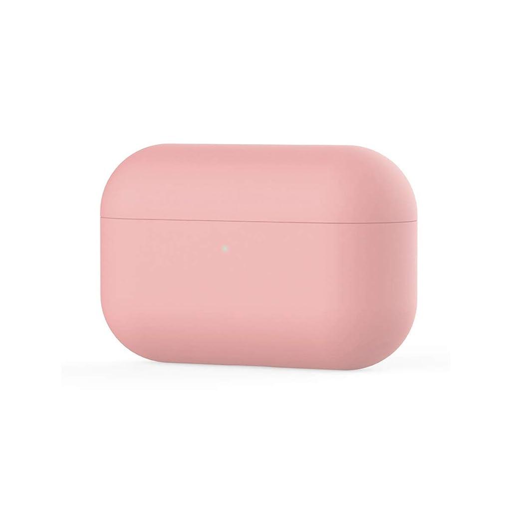メロドラマティック不正汚れた8HAOWENJU AirPodsプロ液状シリコーンケースワイヤレスBluetoothヘッドセットのセットairpods3生成保護ソフトシェル充電ボックスに適用 (Color : Pink)
