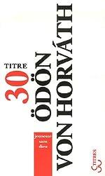 Jeunesse sans dieu d'Odon von Horvath