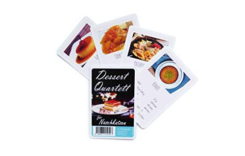Postre Quartett – Juego de cartas para dulces – divertido juego de cartas para madres, padres, parejas o niños