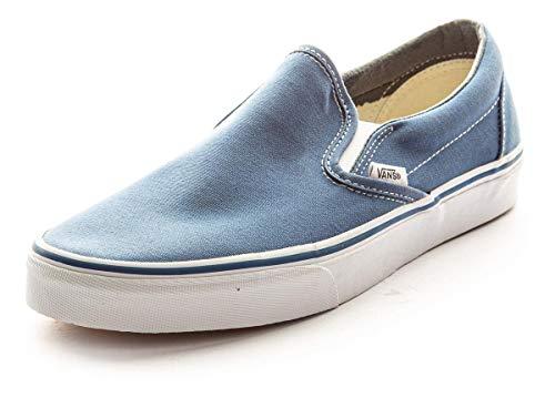 Vans Classic Slip-On Canvas, Mixte Adulte Bleu (Navy Shoe White Sole) 40